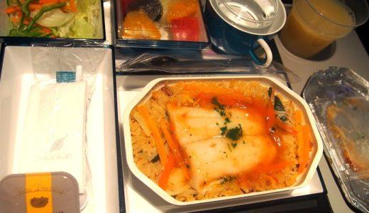 モルディブ新婚旅行で利用したスリランカ航空の機内食や乗り継ぎの様子|ハネムーン旅行記