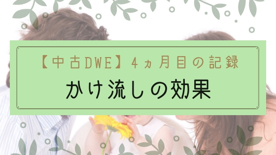 【ブログ】1歳中古DWEの記録4ヵ月目