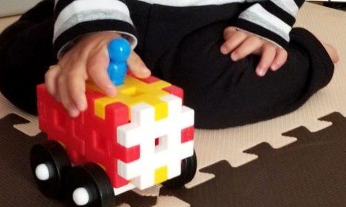 プレイアロングに登場する「車」のおもちゃの代替品を学研のニューブロックで作ってみた