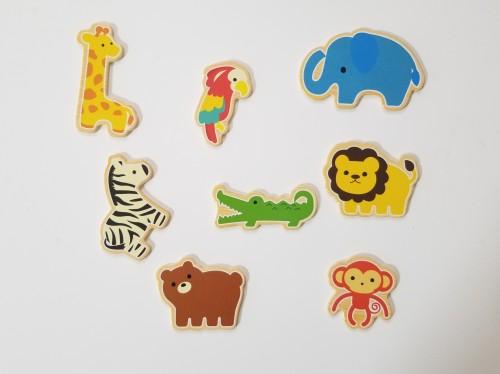 100均ダイソー知育玩具「型はめ木製パズル」