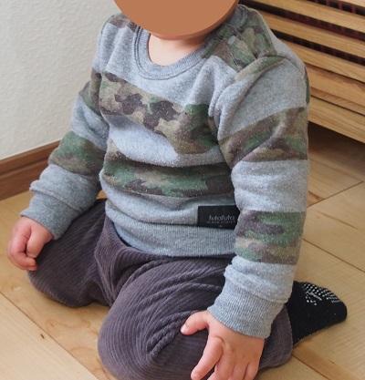 赤ちゃんベビー服サイズ80のセパレート冬