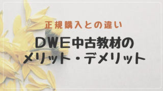 DWEディズニー英語システム中古メリットデメリット
